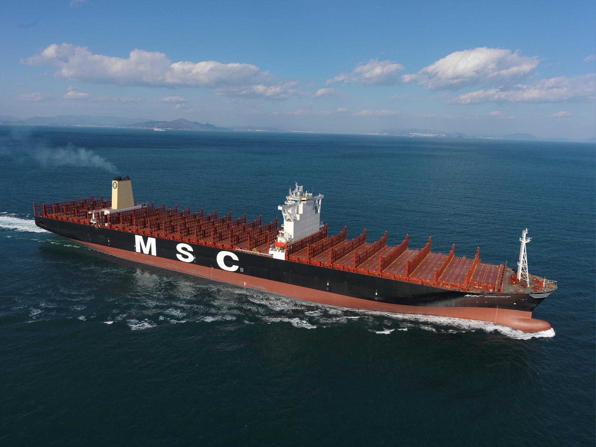 Msc Oscar World S Largest Container Capacity Vessel