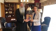 Η Πρέσβειρα της Ουκρανίας κ.Ναταλία Κοσένκο στον Σεβασμιώτατο Μητροπολίτη Πειραιώς κ.Σεραφείμ